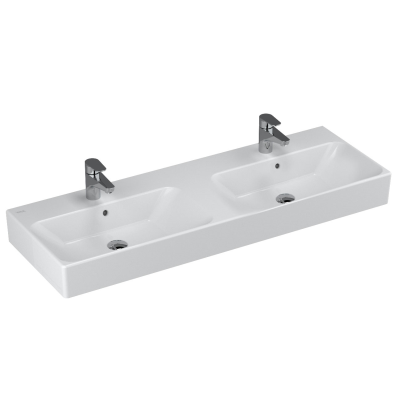 Nuo Washbasin, with Two Bowls, 130 cm