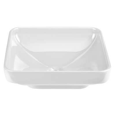 Water Jewels Square Bowl, 40 cm, White