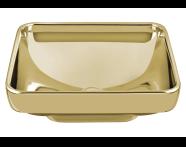 4441B072H0016 - Water Jewels Square Bowl, 40 cm