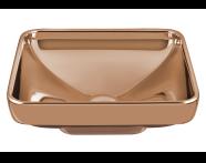 4441B073H0016 - Water Jewels Square Bowl, 40 cm
