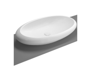 4446B003H0016 - Istanbul Oval Bowl, 85 cm, with Integrated Pedestal without Tap Hole, Syphon Included