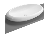 4446B470-0016 - Istanbul Countertop Washbasin, 85 cm, Black