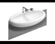 4447B470-0041 - Istanbul Counter-top Washbasin, 85 cm, Black