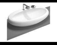 4447B470-0871 - Istanbul Counter-top Washbasin, 85 cm, Black