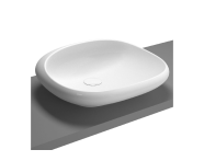 4520B003H0016 - Istanbul Square Bowl, 50 with Integrated Pedestal without Tap Hole, Syphon Included