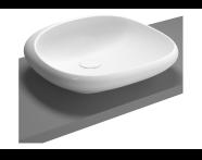 4520B470-0016 - Istanbul Countertop Washbasin, 54 cm, Black