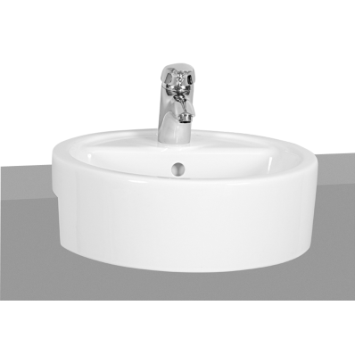 M Line Round Semi Recessed Basin 45 Cm Vitra Uk