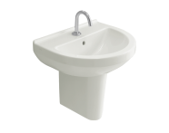 5301L003-0001 - S50 WashBasin, 55cm with Middle Tap Hole, with Side Holes