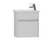 53023 - S50 + Narrow Washbasin Unit 45 cm, White High Gloss, Left