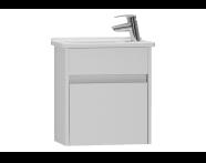 53023 - s50+ Dar Lavabo dolabı, 45 cm, Parlak beyaz, sol