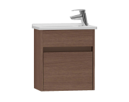 53025 - S50 + Narrow Washbasin Unit 45 cm, Dark Oak Left