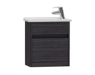 53026 - S50 + Narrow Washbasin Unit 45 cm, Hacienda Black, Left