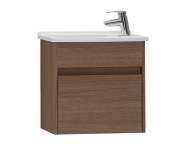 53029 - S50 + Narrow Washbasin Unit, 50 cm, Dark Oak Left
