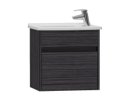 53030 - S50 + Narrow Washbasin Unit, 50 cm, Hacienda Black, Left