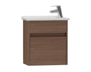 53033 - S50 + Narrow Washbasin Unit 45 cm, Dark Oak Right