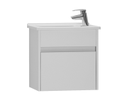 53035 - S50 + Narrow Washbasin Unit, 50 cm, White High Gloss, Right