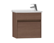 53037 - S50 + Narrow Washbasin Unit, 50 cm, Dark Oak Right