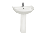 5303L003-0001 - S50 WashBasin, 65cm with Middle Tap Hole, with Side Holes