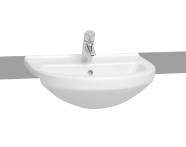 5307B003-0001 - S50 Recessed WashBasin, 55cm with Middle Tap Hole, with Side Holes