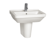 5309B003H0001 - S50 Washbasin, 55 cm, with Middle Tap Hole, with Side Holes
