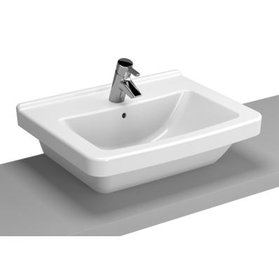 S50 WashBasin, 60cm with Middle Tap Hole, with Side Holes, Bowl