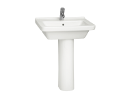 5310L003-0001 - S50 WashBasin, 60cm with Middle Tap Hole, with Side Holes