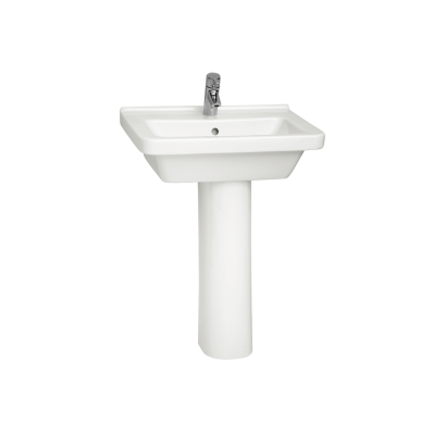 S50 WashBasin, 60cm with Middle Tap Hole, with Side Holes