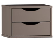 53204 - Gala Classic Tall Unit Accessory (3) - 2 Drawers Beige (Matte)