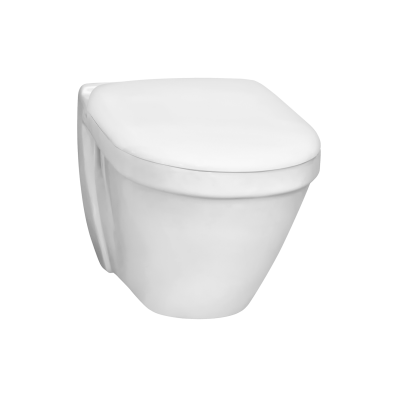 S50 Short Projection Wall-Hung WC Pan, 48 cm