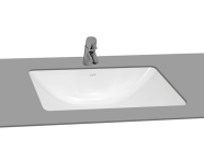 5339B003-0012 - S50 Undercounter Basin, 48 cm without Tap Hole, with Side Holes