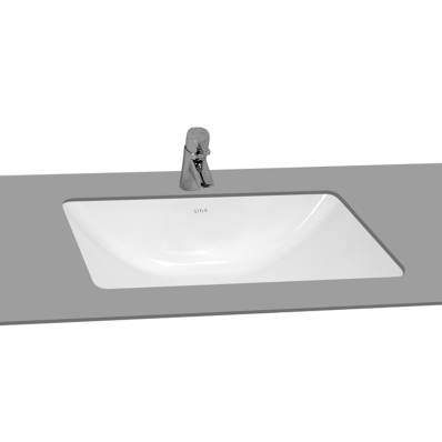 S50 Undercounter Basin, 48 cm, without Tap Hole, with Side Holes