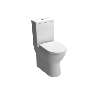 S50 Comfort Height Close-Coupled WC Pan, Fully Back-to-Wall
