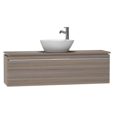 system fit washbasin unit  120x34x37 cm  middle  grey oak Contemporary Home Windows Contemporary Home Kitchens