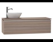 53611 - System Fit Washbasin Unit 120 cm (Left)