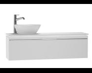 53613 - System Fit Washbasin Unit 120 cm (Left)