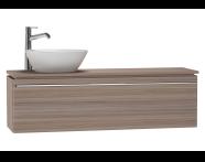 53615 - System Fit Washbasin Unit 120 cm (Left)