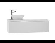 53721 - System Fit Washbasin Unit 120 cm (Left)