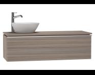53723 - System Fit Washbasin Unit 120 cm (Left)