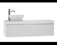 53725 - System Fit Washbasin Unit 120 cm (Left)