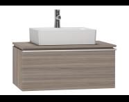 53771 - System Fit Washbasin Unit 80 cm