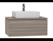 53775 - System Fit Washbasin Unit 80 cm