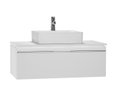 53789 - System Fit Washbasin Unit, 100x53x37 cm, High Gloss White