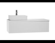 53833 - System Fit Washbasin Unit 120 cm (Left)