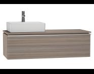 53835 - System Fit Washbasin Unit 120 cm (Left)