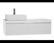 53837 - System Fit Washbasin Unit 120 cm (Left)