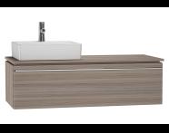 53839 - System Fit Washbasin Unit 120 cm (Left)