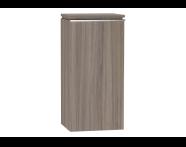 53988 - System Fit Medium Unit Grey Oak Left 40 cm
