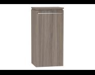 53992 - System Fit Medium Unit Grey Oak Left 40 cm