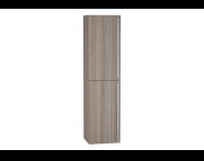 54028 - System Fit Tall Unit, Grey Oak, Left