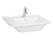5407B003-0001 - S50 Vanity Basin, 60cm with Middle Tap Hole, with Side Holes